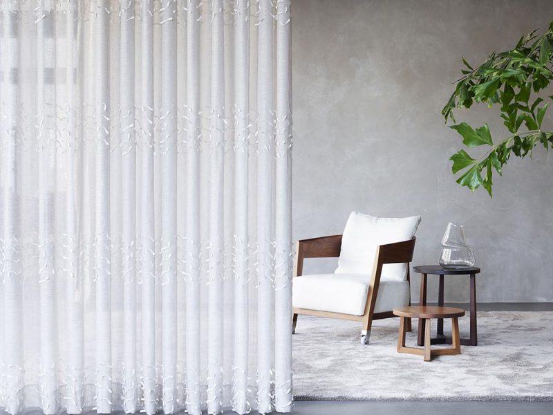 vitrage gordijn grijze muur